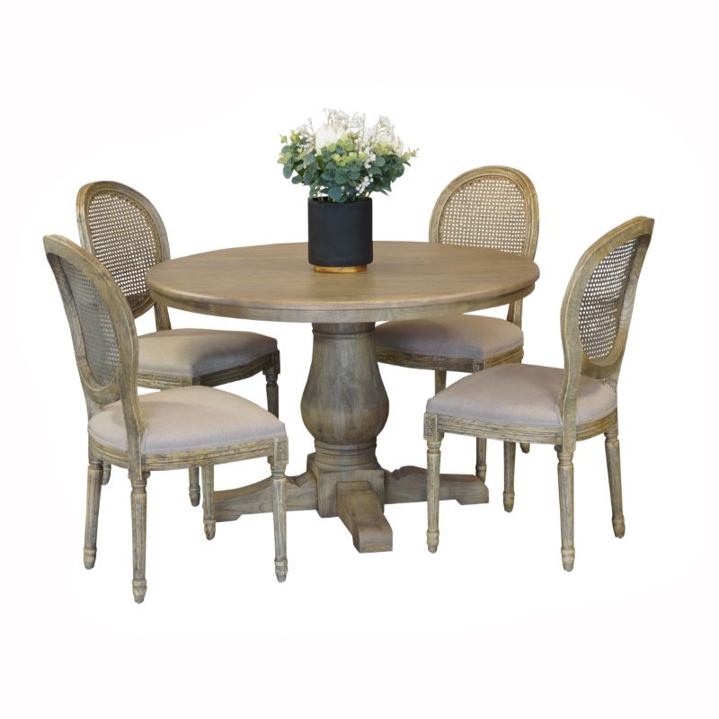 Bristol 5pce French Vintage Dining Suite