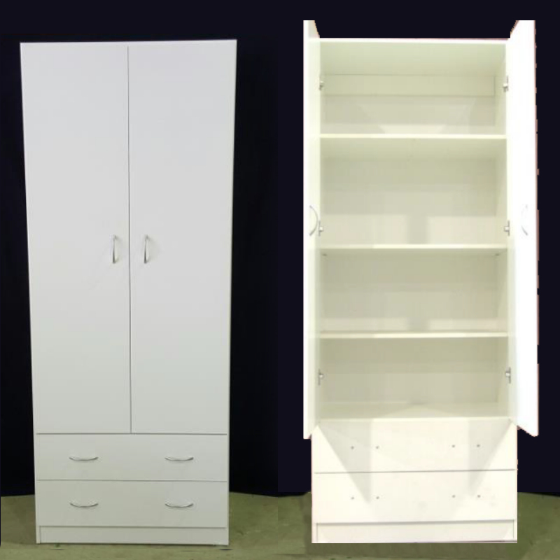 All Shelf 2 Door 2 Drawer Wardrobe