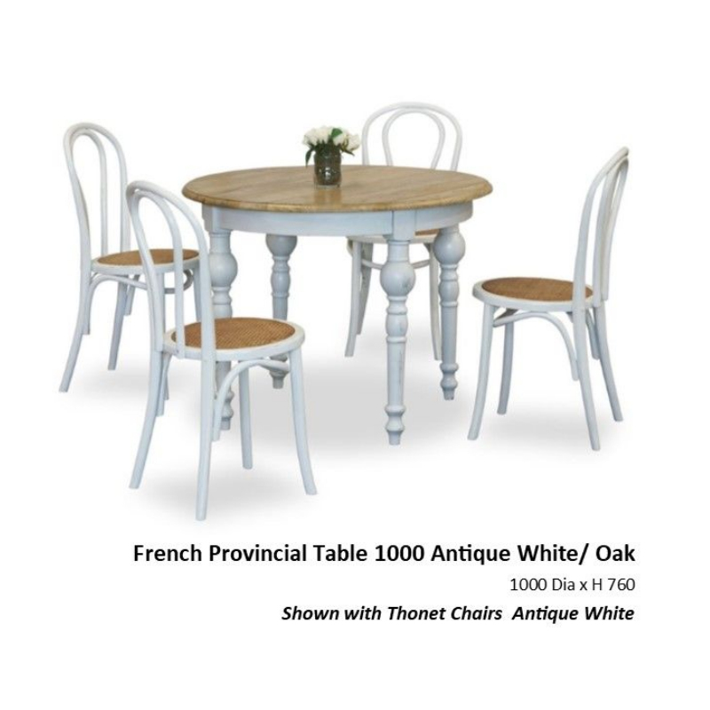 French Provincial 5pce Dining Suite 1000mm