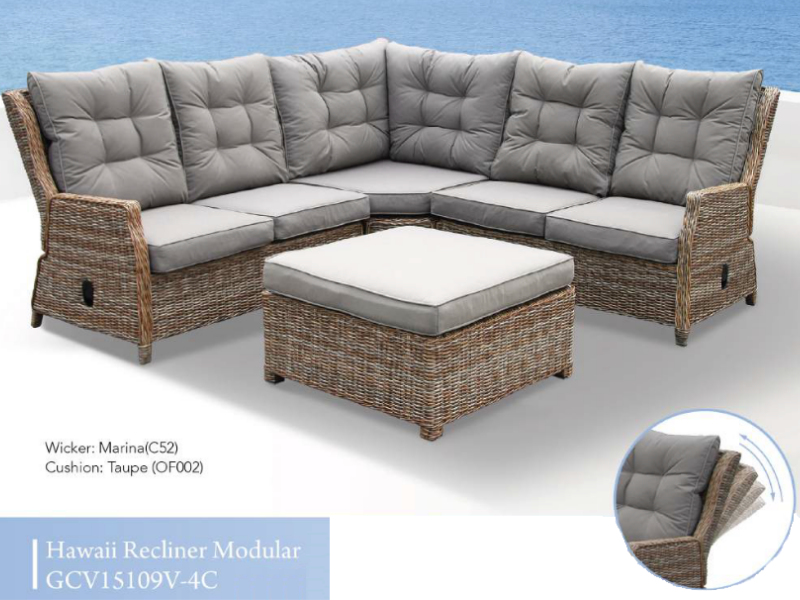 Hawaii Modular Recliner Patio Set