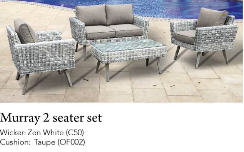 Murray 2 Seater 4pce Patio Set