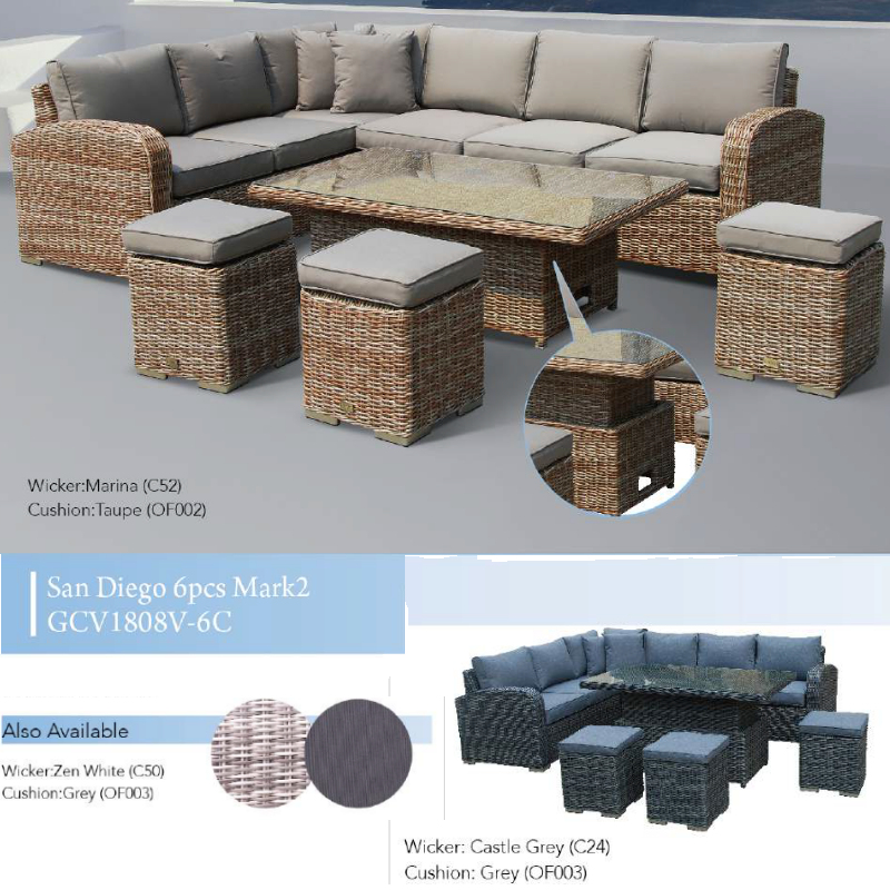 San Diego Mark 2 6pce Patio Set