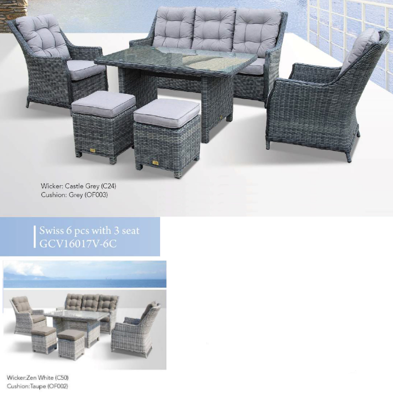 Swiss 6pce Patio Set