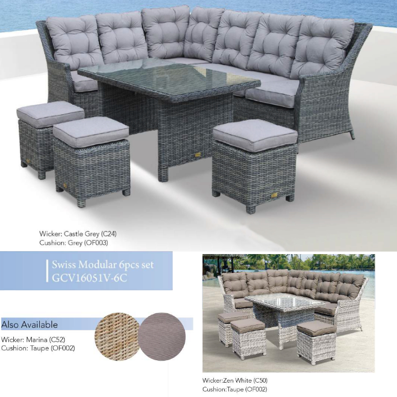 Swiss Modular 6pce Patio Set