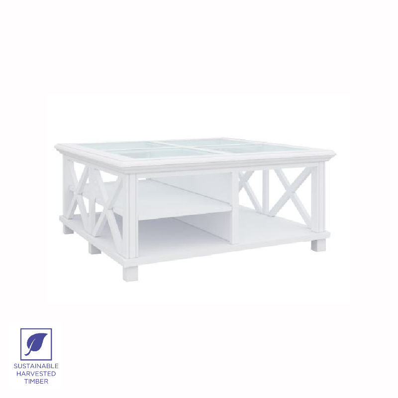 Modern Hamptons Square Coffee Table